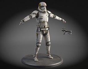3D model Dirty Storm Trooper Light Star Wars First Order