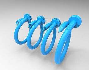Nail shaped rings 3D printable model