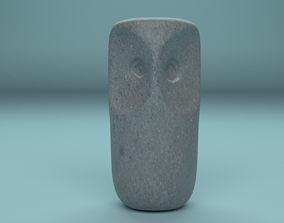 3D asset Owl statuette