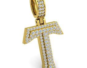 Alphabet Latter T Diamond Pendent 3d Model