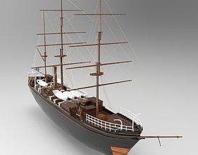 ocean Tall Ship 3D model