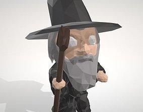 3D printable model Gandalf - LowpolyPOP Figurine