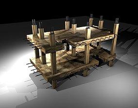 3D model Under Construction Building