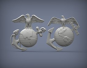 3D printable model US Marine Corps Globe and Anchor 2