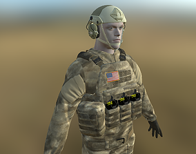 3D asset rigged Soldier