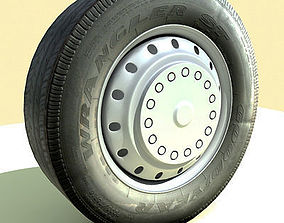 Detailed Classic Car Tire truck 3D