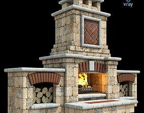 Outdoor Fireplace 007 3D model