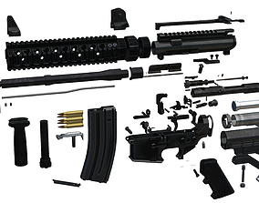 all completed Custom M4 Carbine 3D model