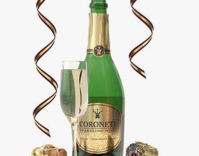 No-name Coroneti Champagne 3D model