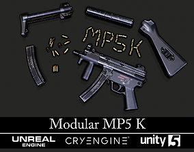 Modular MP5K - Textured - Game Ready 3D model