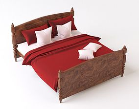 3D Bed with linen