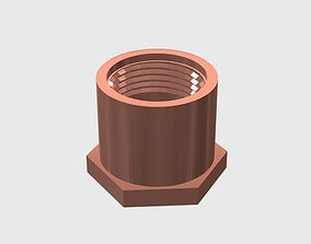 3D print model SCUBA - DIN Regulator Dust Cap 04