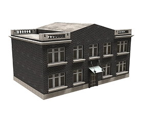 Colonial house 3D model realtime