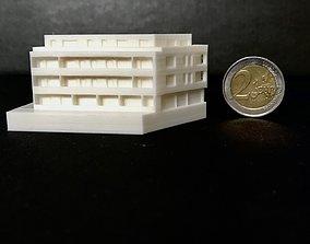 City modern house 3D printable model