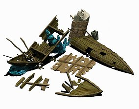 3D Game Submarine - Shipwreck 01