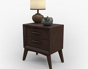 Tobacco Wood Nightstand 3D asset