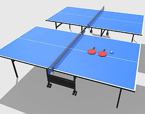 3D asset Low Poly PBR Table Tennis