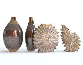 3D Shell vases set