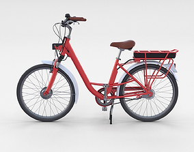 Electric City Bicycle Red 3D