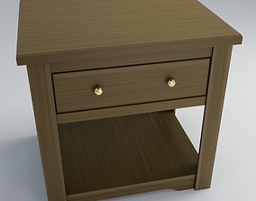 realtime End Table 3D Model