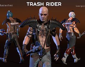 Trash Rider 3D asset animated
