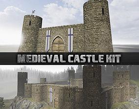 Medieval castle kit 3D asset