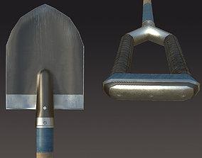 scapula Shovel 3D model realtime