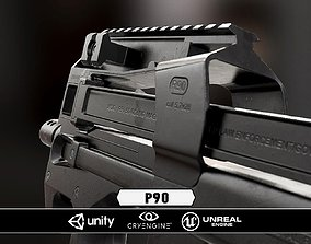 P90 - Model and Textures low-poly