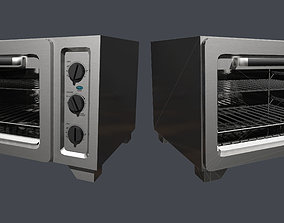 3D asset Toaster Oven Kitchenware Low Poly Game