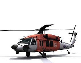 3D asset Rescue helicopter Blackhawk