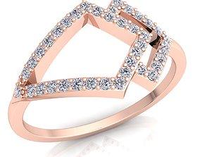 Diamond Ring 3D print model engagement-ring