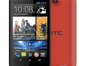 HTC Desire 310 Orange 3D model touchscreen