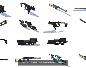 SMG and Special OPS Rifles Bundle 3D model