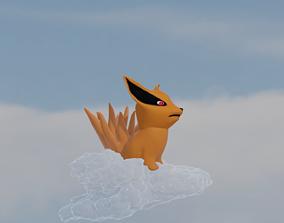 3D naruto Nine tailed chibi fox