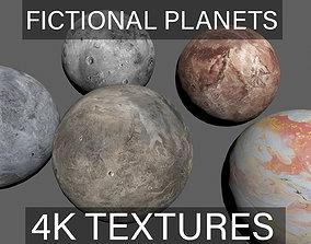 3D model 4K PBR Fictional Planets