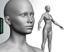 anatomy 3D Average Caucasian Female Body Basemesh