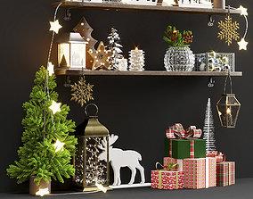 3D model New year decorative set 1