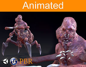 3D asset Character Parazite Spider