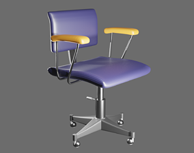 3D model OFFICE CHAIR roccoco