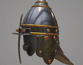 realtime PBR Medieval helmet 3d model