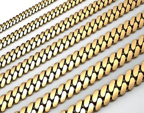 7 SIZE CUBAN LINK CHAIN FOR BRACELETS OR 3D print model 1