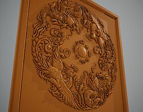 magical Dragon and phoenix 3D print model