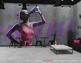 Gym Fitness Interior Design 3D
