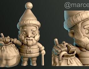 Santa Claus with Gift Bag 3D printable model