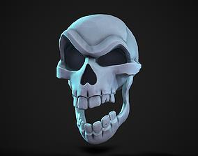 Stylized Skull 3D asset