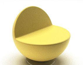 Modern Yellow Chair 3D model