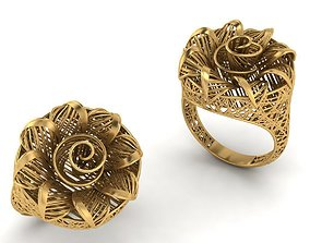 3D printable model jewelry net ladies ring