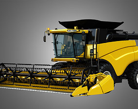 3D model NH - CR 9070 Combine Harvester - With Grain 1