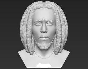 Bob Marley bust 3D printing ready stl obj formats
