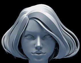 3D anatomy Female head base mesh
